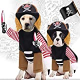 Pirate Dog Costume Suit Dress-up Party Role Play Carnival Cosplay Holiday Decorations Funny Clothes for Dog & Cat