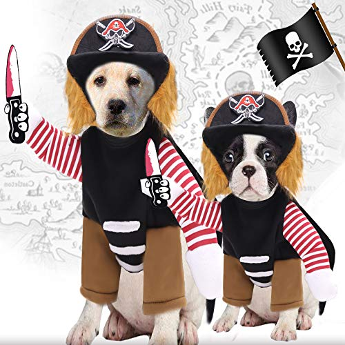 Pirate Dog Costume Suit Dress-up Party Role Play Carnival Cosplay Holiday Decorations Funny Clothes...