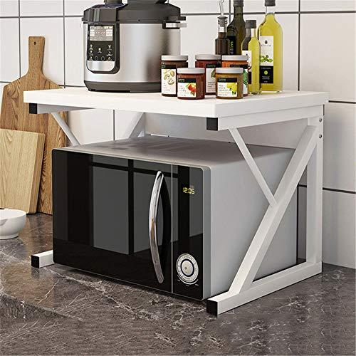 GJDBBLY Opbergrek, keukenmagnetron-ovenrek, multifunctioneel rek met twee niveaus, keukengerei-sparer