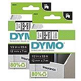 Dymo D1 etichette, stampa nero su bianco, 12x7 mm, etichette autoadesive per stampanti LabelManager, 2 pezzi