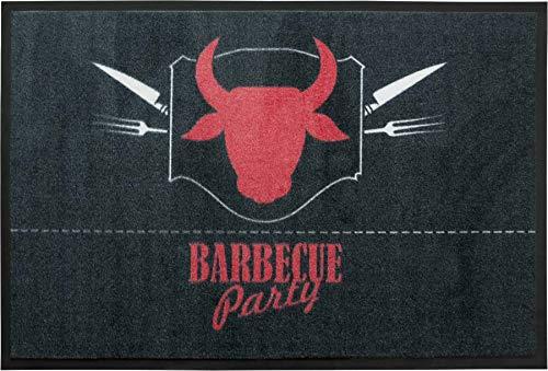 Primaflor - Ideen in Textil Tapis de Protection de Sol Barbecue - 80 x 120cm BBQ Tapis Antidérapant BBQ   Résistant   5 Modèles Attractifs   Tapis de Grill