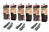 6 Pair Mens Heated Socks Thermal Work Boot Socks Winter Gear Treated Moisture Control Ski Snow School