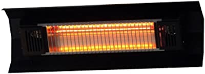Fire Sense Black Steel Wall Mounted Infrared Patio Heater | 1500 Watts | Weatherproof | Lightweight | For Indoor and Outdoor Use | 6 Foot Non Retractable Electrical Cord, Mounting Bracket