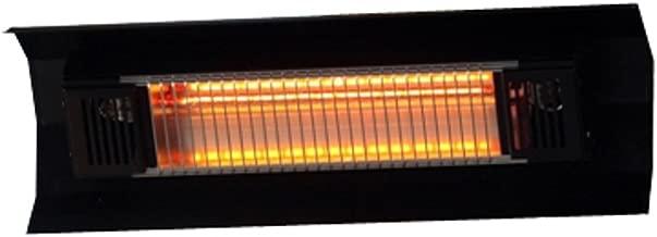 Fire Sense Indoor/Outdoor Wall-Mount Infrared Heater, Black