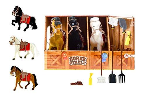 Unbekannt TOI Toys 6223 Der Pappepferdestall Pferden, DREI Farben