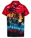 Redstar Fancy Dress Herren Hawaiihemd - kurzärmelig - Palmenmotiv - Verkleidung...