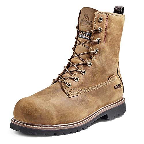 Kodiak Men's 8-Inch McKinney Composite Toe Waterproof Industrial Boot, Brown, 7 Wide