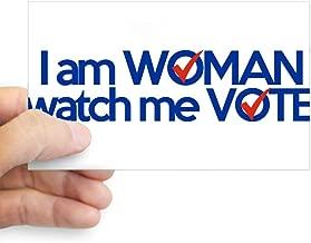 CafePress I Am Woman Watch Me Vote Sticker Rectangle Bumper Sticker Car Decal