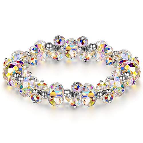 Susan Y Pulsera Mujer con Cristales de Swarovski bisutería con Caja de Regalo Joyas para niñas Madre Aniversario Ella día de San valentín