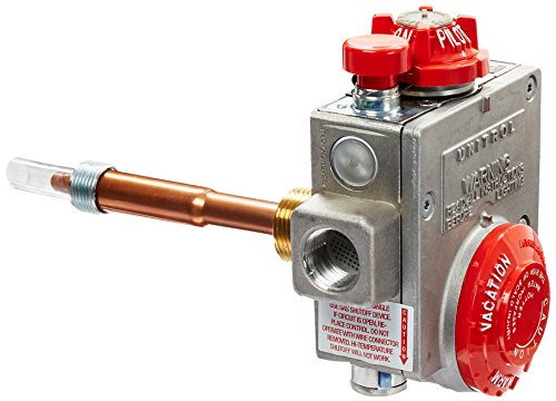 Robertshaw 110-326 Water Heater Thermostat with 1-3/8' Shank, Natural Gas, 3-1/2' W.C