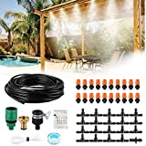 Trampoline Water Play DIY 50 Feet 20 Nozzles Misting Outdoor Cooling System Kits Waterpark Summer Game Toys Accessories for Kids in Swimming Pool Patio Garden Lawn Greenhouse Irrigation Sprinkle