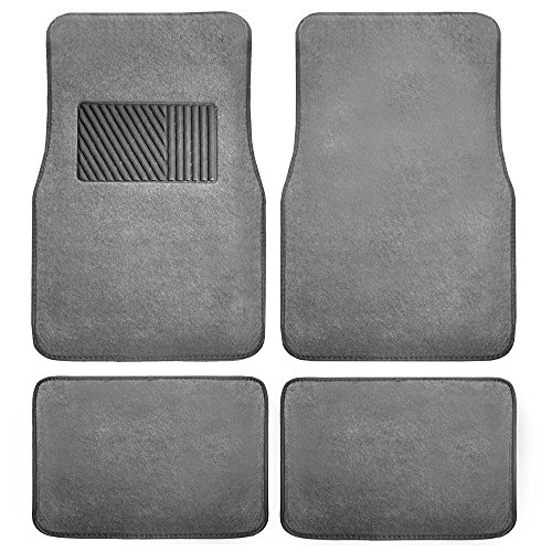 FH GROUP F14403GRAY Gray Carpet Floor Mat with Heel Pad (Deluxe)