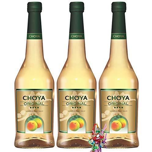 yoaxia ® - 3er Pack - [ 3x 750ml ] CHOYA ORIGINAL Aromatisiertes weinhaltiges Getränk - Japan Ume Fruit + ein kleines Glückspüppchen - Holzpüppchen