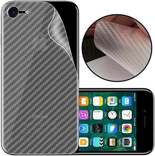 S-Softline Ultra Thin Slim Fit 3M Clear 3D Carbon Fiber Back Skin Rear Screen Guard Protector Sticker Protective for Apple iPhone 7 (Transparent)