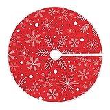 Mnsruu Falda de árbol de Navidad con copos de nieve, color blanco, para decoraciones navideñas (90 cm)