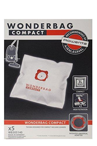 Rowenta aspirateur traîneau avec sac wB305140 wonderbag compact