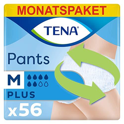 Tena Pants Plus Medium, Monatspaket mit 56 Pants (4 Packungen je 14 Einweghöschen)