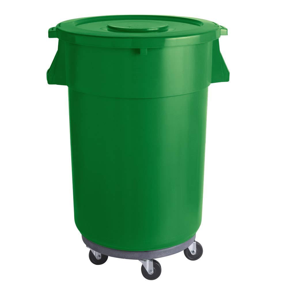 176 Qt. 44 Gallon 166 Liters Over item handling Bin safety Co Round Ingredient Green