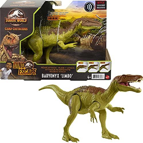 Jurassic World- Dinosauro, Action Figure Giocattolo Attacco Sonoro, dai 4 Anni in su, Multicolore, GWD12