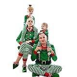 Riou Weihnachten Set Baby Kleidung Pullover Pyjama Outfits Set Familie Frohe Weihnachten Streifen Print Trainingsanzug Familie passende Kleidung Outfits (100, Baby A)