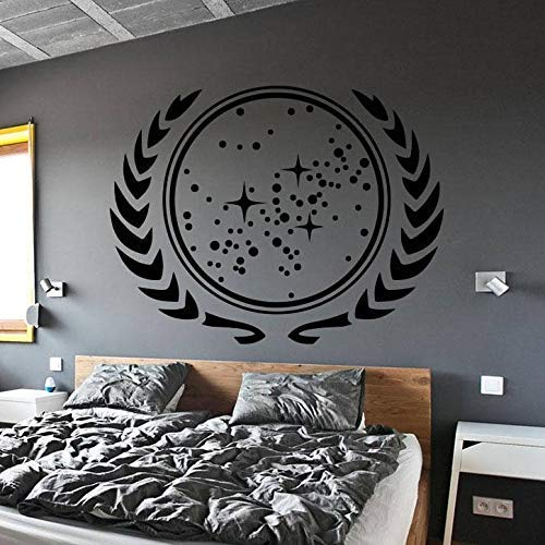 Star Trek Wandtattoo Kinder Schlafzimmer Dekoration United Federation Of Planets Vinyl Wandaufkleber Removable Wallpaper Art 54X42C