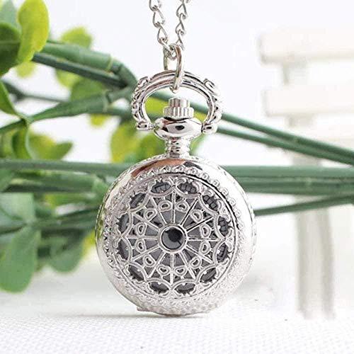 ZGYFJCH Co.,ltd Collar de Moda Reloj de Bolsillo Pequeña Tela de araña Retro Reloj de Bolsillo/Reloj Collar Colgante Collar de joyería