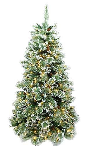 Christmas Concepts 6 Pieds / 72 Pouces Prelit Ice Gel Vert Mix Pin de Noël avec 400 Statique Blanc Chaud Lumières LED