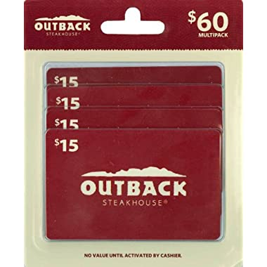 Outback Steakhouse Gift Cards, Multipack of 4 - $15