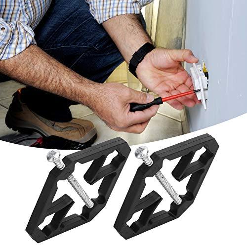 40 Uds 86mm herramienta de reparación de caja de interruptor, cassette inferior reparador de enchufe de pared conjunto fijo de reparación de caja eléctrica(Economical Insulation Type)