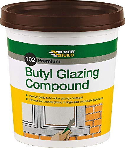 Everbuild BUTGCB2KG Butyl Glazing Compound 102 2Kg - Brown