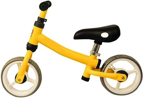 Vélo d'équilibre en acier à haute teneur en voiturebone for bébé sans roue de remorquage Pédale d'équilibre voiture réglable guidon et siège jouets for enfants adapté for les 2 à 4 ans Vélo enfant