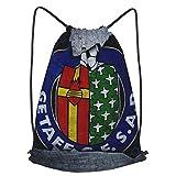 GE-Tafe C-F Printed Sports Bag Gym Bag Travel Bag Shoe Bag Backpack Shopping Bag Drawstring