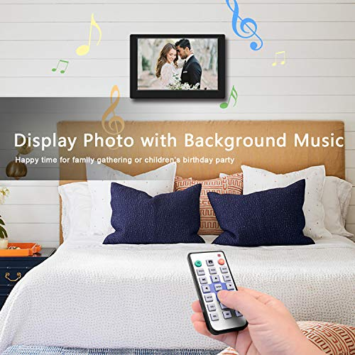 TENSWALL Digital Photo Frame, 10.1 inch Digital Picture Frame with Background Music,...