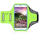 DFV mobile - Professional Cover Ultra-Thin Armband Sport Walking Running Fitness Cycling Gym for Yota YotaPhone 3 - Green