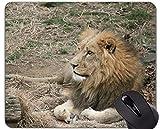 Yanteng Cojín de ratón Original de Encargo de la Serie del Leopardo, Base Salvaje de Goma Antideslizante del león del Leopardo Salvaje