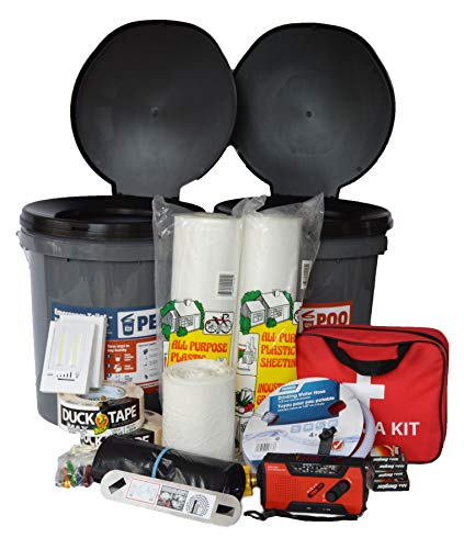 Earthquake Essentials Kit by Portland Earthquake Kits - Best 30-90 Day Shelter-In-Place Home Emergency Kit/Comfort Kit. Prepare your home for The Big One