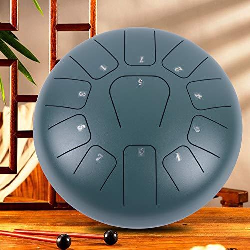 10 pulgadas 11tone Steel Tongue Pan Drum Handpan, con bolsa de transporte, Notas para meditación, Yoga Zazen Sound Healing,