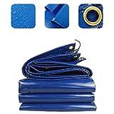 <span class='highlight'><span class='highlight'>XZtianxie</span></span> Blue Tarpaulin Waterproof Heavy Duty, High-Strength Silk PVC Coating Material Heavy Duty Tarpaulin, 0.35MM Thickness/Mildewproof/Galvanized Buttonhole/Easy Folding,2X2M
