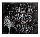 DIY Diamond Painting Kits for Adults Rhinestone Mosaic by Numbers Art Kits Full Drill Round Gem Art Saying Quote(Everything Happens for a Reason) 20x25 cm