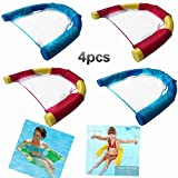 Funny Pool Float -Pool Floats for Kids and Adult,Noodle Sling,Kids Awesome Noodle Pool Toy,Sling Mesh Chair for Pool Noodle,Mesh Sear, Pool Noodles Foam(4 Packs)