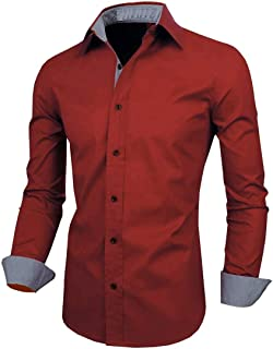 SRETAN Men Cotton Casual Shirt for Men Full Sleeves