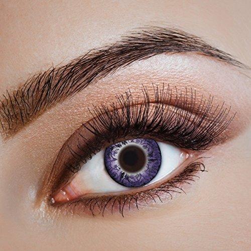 aricona Kontaktlinsen - Lila Kontaktlinsen farbig ohne Stärke - Farbige Anime, Manga, Cosplay Kontaktlinsen Circle Lenses für größere Augen, 2 Stück