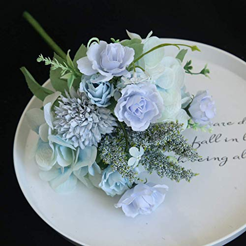 Artificial Fake Flower, Artificial Rose Flower Peony Flower Leaves Bridal Bouquet Wedding Home Coffee Shop Office Decor Wedding For outdoor decoration