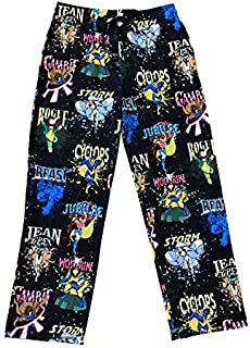 Marvel X-Men The Animated Series Characters All Over Lounge Pants (XX-Large) Black