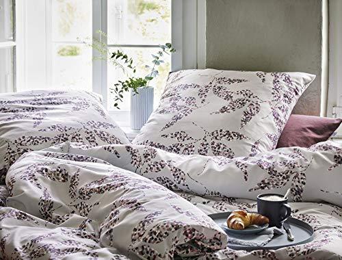 Irisette Mako-Satin Bettwäsche Capri Leeds grau 1 Bettbezug 135x200 cm + 1 Kissenbezug 80x80 cm