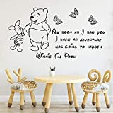 Lovely Winnie The Pooh Wall Stickers Self Adhesive Art Wallpaper Living Room Vinyl Decals Children Room Wall Decoration57*108Cm