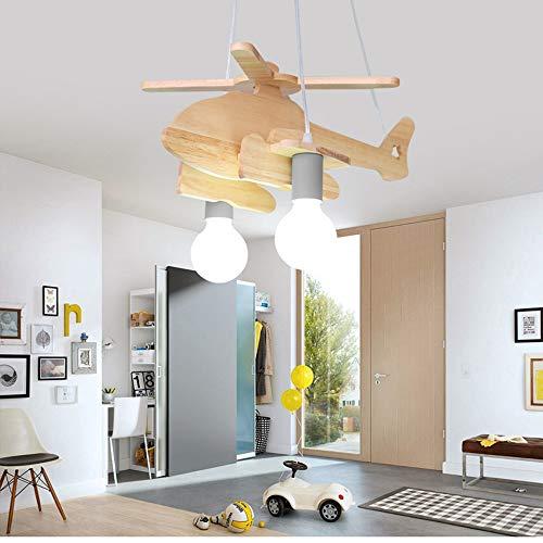 SZ&LAM Araña De Aviones, Macarrón Diseñador Creativo Nórdica Restaurante Personalidad Araña De Madera Maciza Dormitorio Lámpara del Estudio del Dormitorio De Los Niños,Gris