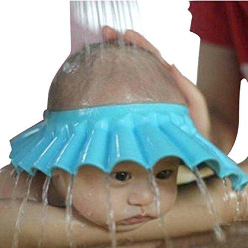 Weiches Sicheres Baby Kid Shampoo für Kinder, Badeschutz, Kopfhörer für die Dusche, Schutzschild für die Haarwäsche (Blau).