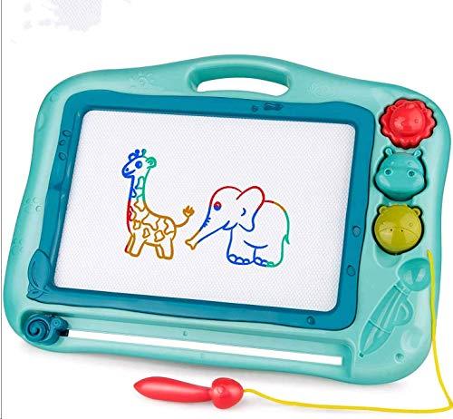 Pizarra Infantil,12×16 Inch Pizarra Magnetica Infantil , Pizarra Magica,Con 3 Lindos Sellos,BolíGrafo Magnético,Tablero De Escritura Borrable En Color Para Niños,Regalos Para Niños Pequeños (Azul)