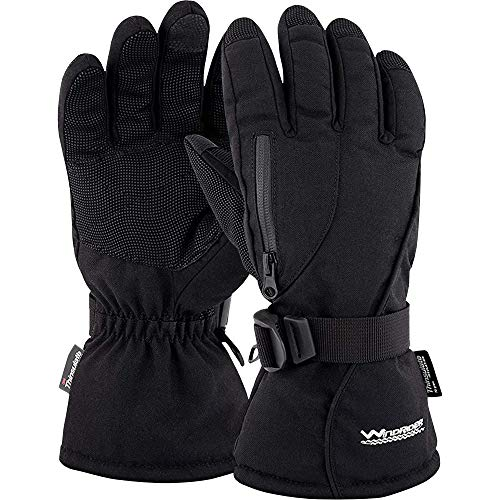 WindRider Rugged Waterproof Winter Gloves | Touchscreen Compatible | Cordura Shell, Thinsulate Insulation | Ice Fishing, Skiing, Sledding, Snowboard | for Women or Men